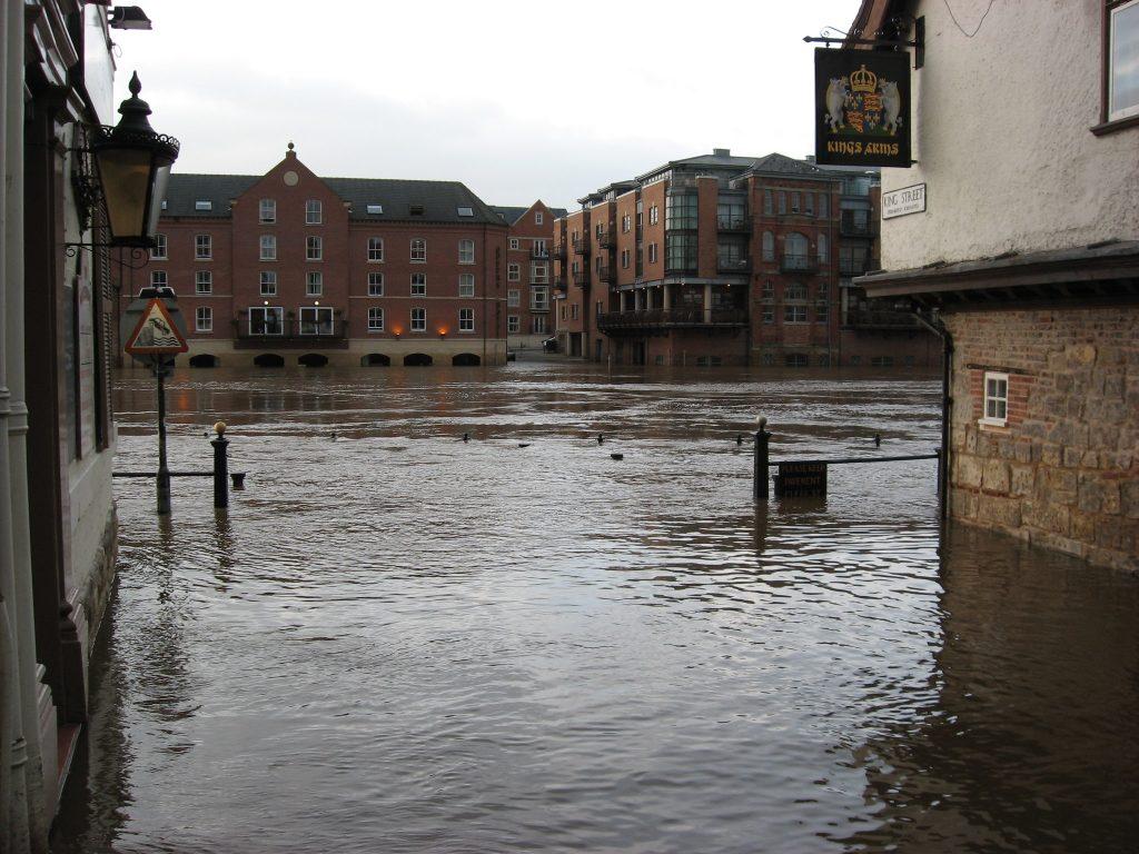 Flooding in York, UK